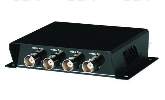 Приемопередатчик видеосигнала SC&T TTP414V 4-канальный по витой паре на 600 м