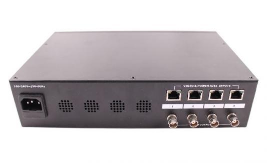 Приемник видео сигнала OSNOVO RP-4CP/S 4-канальный пассивный композитный видеосигнал + питание по витой паре до 300м
