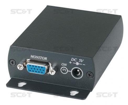 Приемник SC&T TTA111VGA-R-2 для VD105 и TTA111VGA-T Вход RJ45 выход VGA до 300м