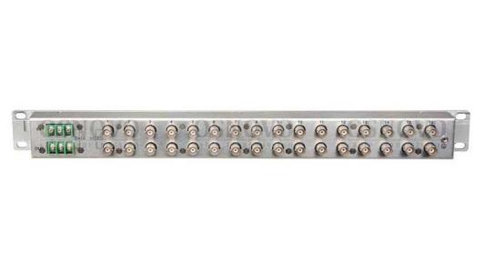 Устройство грозозащиты OSNOVO SP-C16D для цепей видео и данных Видео 16 входов BNC-мама/16 выходов BNC-мама 16 входов клеммы/16 выходов клеммы