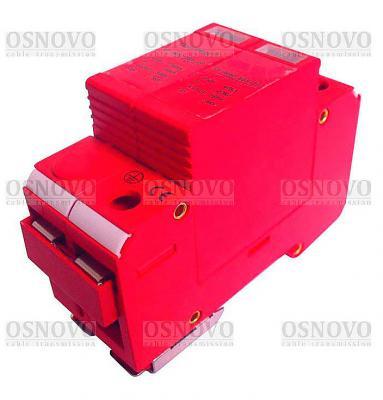 Устройство защиты OSNOVO SP-ACD/220-1 для цепей 220в на Din-рейку Максимальный ток разряда 40кА стабилизатор на din рейку интернет магазин