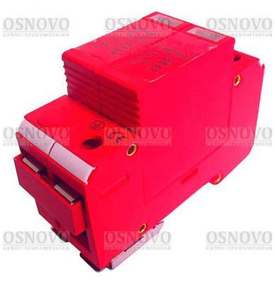 Устройство защиты OSNOVO SP-ACD/220-2 для цепей 220в на Din-рейку Максимальный ток разряда 60кА