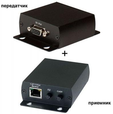 Комплект SC&T для передачи VGA сигнала TTA111VGA-T+TTA111VGA-R по витой паре 300 метров 1 VGA коннектор и RJ45 TTA111VGA-2 aikexin vga video extender 300m with audio vga over cat6 rj45 lan utp vga extender up to 1000 ft 1 local and 2 remote