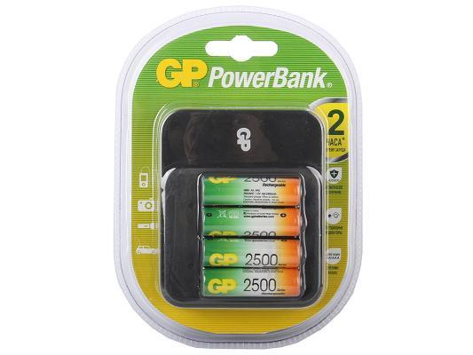 Зарядное устройство + аккумуляторы GP PB550GS250-2CR4 2500 mAh AA 4 шт цена
