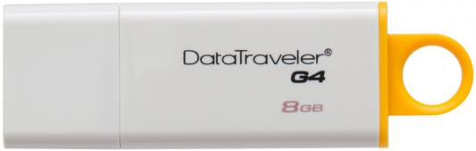 Внешний накопитель 8Gb USB Drive <USB 3.0> Kingston DataTraveler (DTIG4/8GB) usb flash drive 8gb kingston ironkey d300 usb 3 0 ikd300 8gb