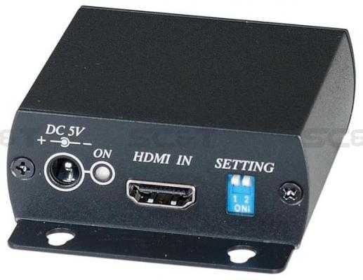 Передатчик SC&T HE01ST для HDMI-сигнала по одному кабелю витой пары неэкранированной до 45м
