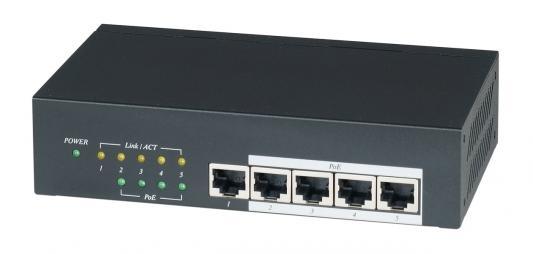 Коммутатор SC&T IP05H PoE 4-портовый 10/100/1000M
