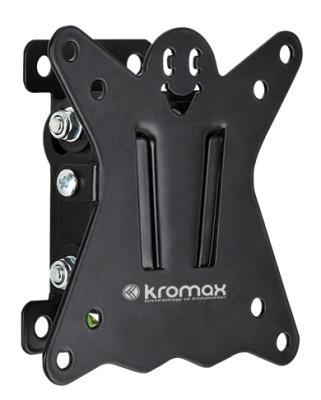 Кронштейн Kromax Casper-101 для LED/LCD 10-26 VESA 100x100 мм 1 ст.свободы max 15 кг черный кронштейн kromax dix 1 серый lcd led 10 26 настенный 2 степени свободы vesa 50 75 100 max 15 кг