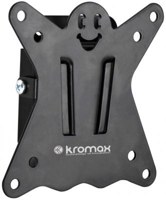 Кронштейн Kromax CASPER-100 для LED/LCD 10-26 VESA 100x100 max 15 кг черный кронштейн kromax dix 1 серый lcd led 10 26 настенный 2 степени свободы vesa 50 75 100 max 15 кг