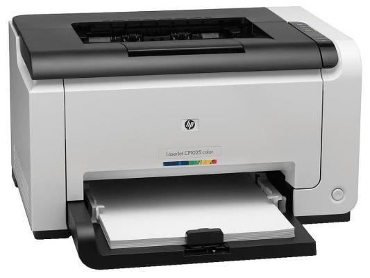 Принтер лазерный HP Color LaserJet Pro CP1025nw <CE918A> A4, 16/4стр/мин,64 Мб, Ethernet, USB 2.0