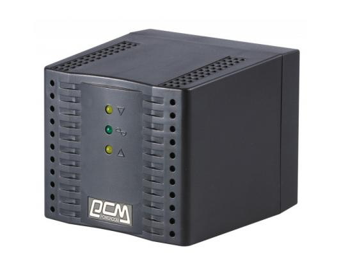 Стабилизатор напряжения Powercom TCA-1200 черный 4 розетки 1 м