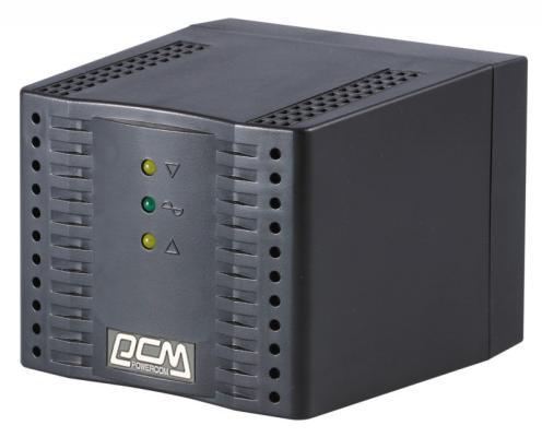 Стабилизатор напряжения Powercom TCA-2000 черный 4 розетки 1 м