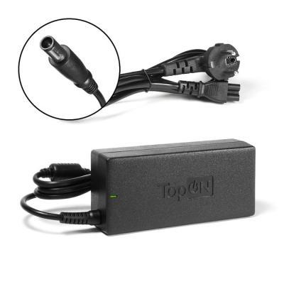 Ультратонкий (17мм) блок питания, зарядное устройство для ноутбуков HP TopOn Top-HP20 ультратонкий 17мм блок питания сетевая зарядка для ноутбука toshiba topon top lt01s