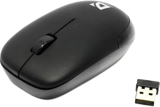 цены на Мышь беспроводная DEFENDER Datum MM-015 Nano чёрный USB 52015 в интернет-магазинах