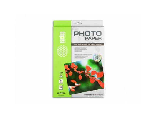 Фотобумага Cactus CS-GA4230100 глянцевая А4 230 г/м2 100 листов