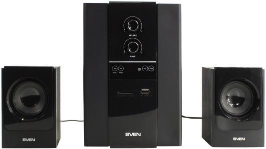 Колонки Sven MS-1820, чёрный, акустическая система 2.1, мощность(RMS):18Вт+2х11 Вт, USB/SD, ПДУ акустическая система sven ms 107 черный