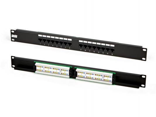 "Патч-панель Hyperline PP2-19-16-8P8C-C5e-110D 19"", 1U, 16 портов RJ-45, категория 5e, Dual IDC от 123.ru"