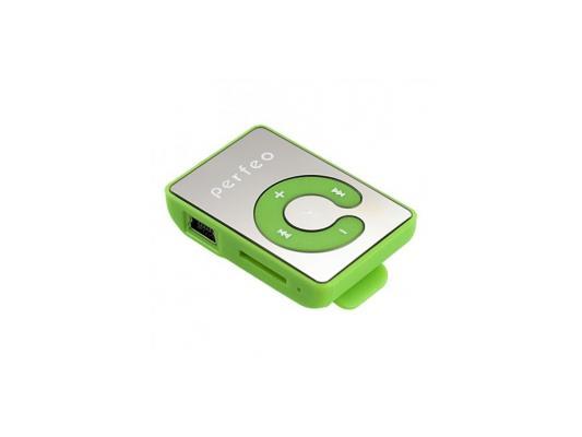 Цифровой аудио плеер Perfeo  Music Clip Color, зелёный (VI-M003 Green)