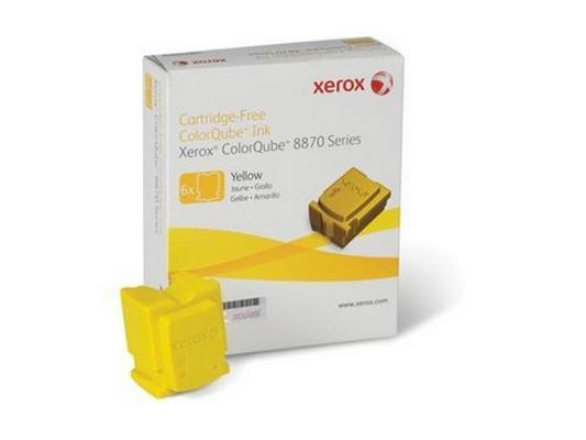 Набор твердочернильных брикетов Xerox 108R00960 для ColorQube 8870 6шт желтый 17300стр