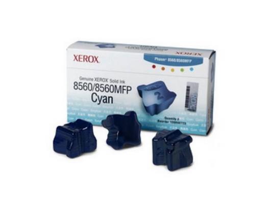 где купить Набор твердочернильных брикетов Xerox 108R00764 для Phaser 8560 ColorStix ink sticks 3шт голубой 3000стр дешево