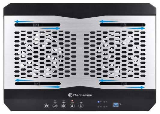 "Теплоотводящая подставка под ноутбук Thermaltake Cooler Tt Massive TM до 17"" (CL-N002-PL12BL-A) Black"