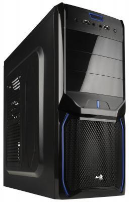 Корпус ATX Aerocool V3X Evil Blue Edition Без БП чёрный синий EN57424
