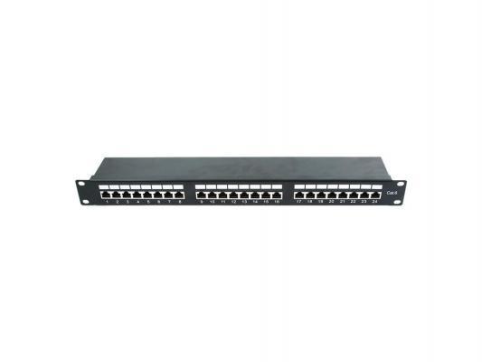Патч панель Cablexpert NPP-C624-002 экранированная, 24 порта категории 6, размер 19'' 1U