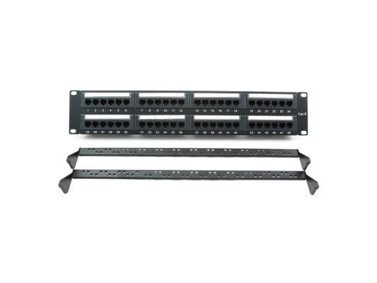 Патч панель Cablexpert NPP-C648CM-001 с задним организатором, 48 портов категории 6,