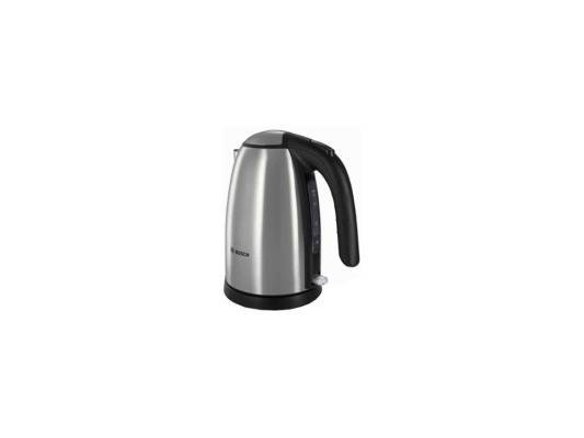 Чайник Bosch TWK7801 2200 Вт серебристый 1.7 л металл чайник clatronic wks 3625 2200 вт фиолетовый 1 8 л металл