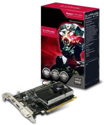 Видеокарта 1Gb <PCI-E> Sapphire R7 240 DDR5/ DVI/ HDMI/ CRT/ HDCP/Retail (11216-02-20G)
