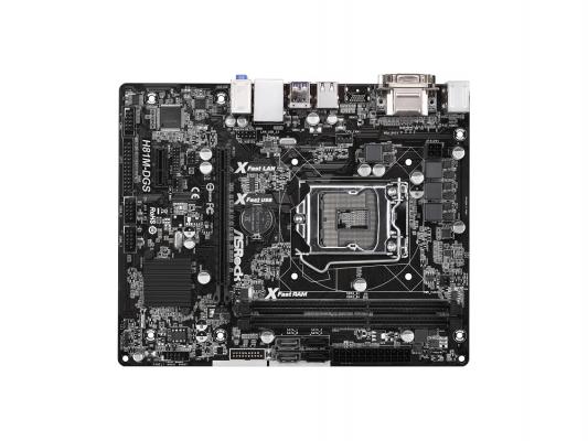 Материнская плата ASRock H81M-DGS R2.0 Socket 1150 Intel H81 2xDDR3 1xPCI-E 16x 1xPCI-E 1x 2xSATAIII 2xSATAII 5.1 Sound VGA DVI Glan mATX Retail