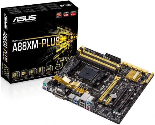 Материнская плата для ПК ASUS A88XM-PLUS Socket FM2+ AMD A88X 4xDDR3 2xPCI-E 16x 1xPCI 1xPCI-E 1x 8xSATAIII mATX Retail