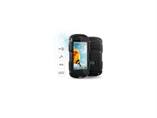 """Защищенный Cмартфон GINZZU RS9D 2SIM/4,02"""" IPS (854х480)/стекло Gorilla Glass 2/защита IP67/8Mpix/1.9Mpix/GPS//Andr 4.2.1/2800мА"""