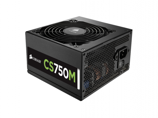 Блок питания Corsair 750W CS Series (CS750M) v.2,4,A.PFC,80 Plus Gold,Fan 14 cm,Modular,Retail