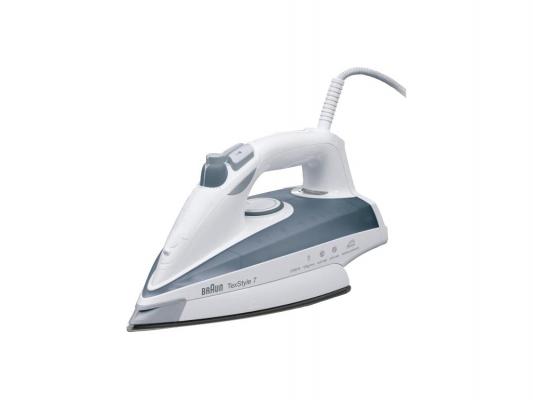 Утюг Braun TexStyle 735 Protector 2400Вт белый серый утюг braun texstyle ts 775 2400вт алюм