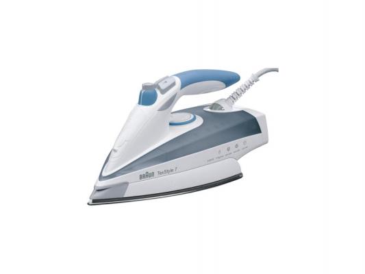 лучшая цена Утюг Braun TexStyle TS765A 2400Вт белый серый синий