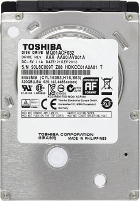 "Жесткий диск для ноутбука 2.5"" 320 Gb 7200rpm 16Mb Toshiba SATAIII MQ01ACF032"