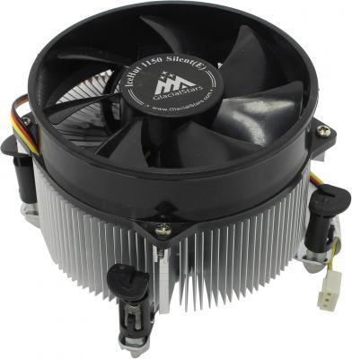 Вентилятор Glacialtech IceHut 1150 Silent Soc-1150/1155/1156/ 3pin 20dB Al 82W 390g клипсы OEM