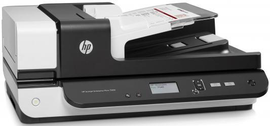 Сканер HP ScanJet Enterprise Flow 7500 <L2725B> планшетный, А4, ADF 100 листов,  50 стр/мин, 600dpi, 24bit, USB (замена L2725A) hp scanjet enterprise flow n9120