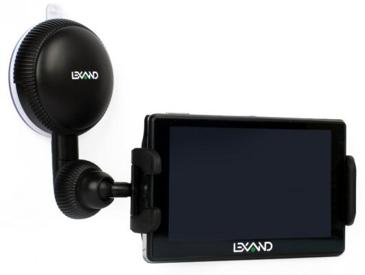 Универсальный автомобильный держатель LEXAND LМ-701 для GPS, КПК, смартфонов. MP3/MP4 плеера (с шириной от 10,5 до 14,5 см), поворот 360° lexand sa5 black gps навигатор
