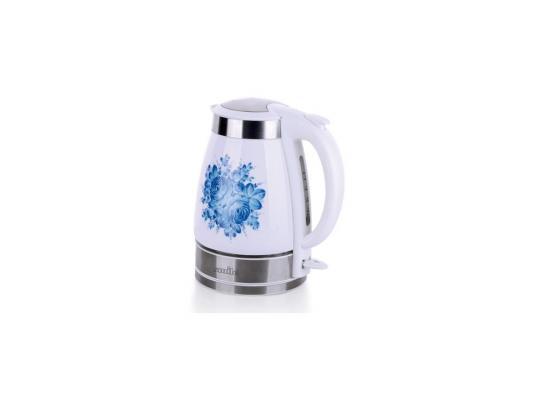 Чайник SMILE WK 5127 керамика (голубой цветок) бело-голубой чайник smile wk 5414