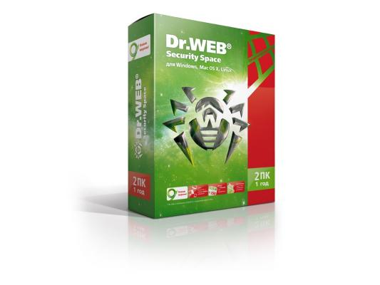 Антивирус Dr. Web Security Space (BHW-B-12M-2-A3) 2 ПК на 12 мес eset nod32 антивирус platinum edition 3 пк 2 года