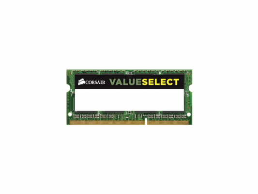 Оперативная память для ноутбука 8Gb (1x8Gb) PC3-12800 1600MHz DDR3 SO-DIMM CL11 Corsair CL11 CMSO8GX3M1C1600C11 модуль памяти corsair valueselect ddr3 so dimm 1600mhz pc3 12800 cl11 8gb cmso8gx3m1c1600c11