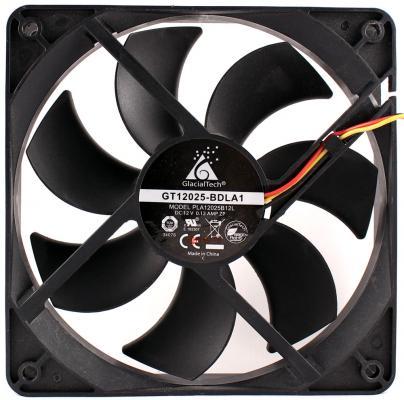 Вентилятор Glacialtech GT-12025-BDLA1 Ballbearing 120x120x25 3 pin + 4 pin molex 21dB 120g OEM