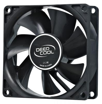 Вентилятор Deepcool XFAN 80 80x80x25 Molex 20dB 1800rpm 82g вентилятор deepcool wind blade 80 80x80x25 3pin 20db 1800rpm 60g голубой led dp fled wb80