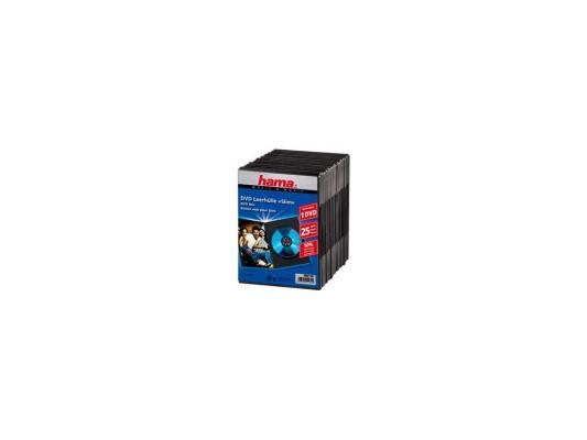 Коробка Hama для DVD Slim 25 шт. пластик черный H-51182 3d 3d 3d