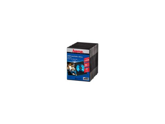 Фото - Коробка Hama для DVD Slim 25 шт. пластик черный H-51182 контейнер д мелочей fresh 25 5x5 5x4см 7 секций пластик