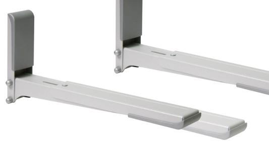 Кронштейн для СВЧ-печей Holder MWS-2003 металлик max 40 кг настенный от стены 300-420 мм кронштейн holder mws 2003 white