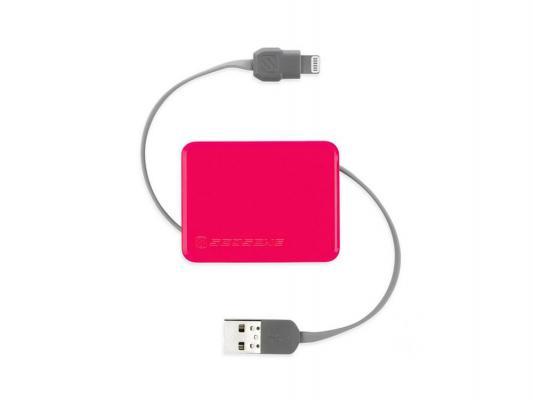 Переходник Scosche 026I2BOXPK USB to Lightning 90см розовый