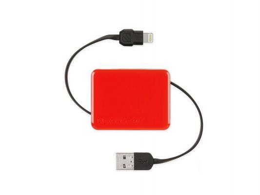 Переходник Scosche 026I2BOXRD USB to Lightning 90см красный  026I2BOXRD